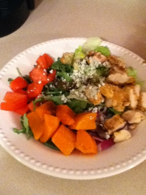 chicken squah salad