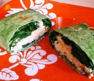 spinach chicken wraps