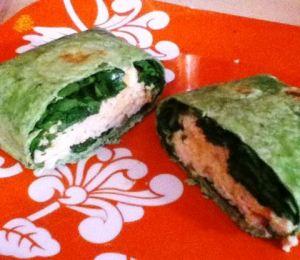 spinach chicken wraps