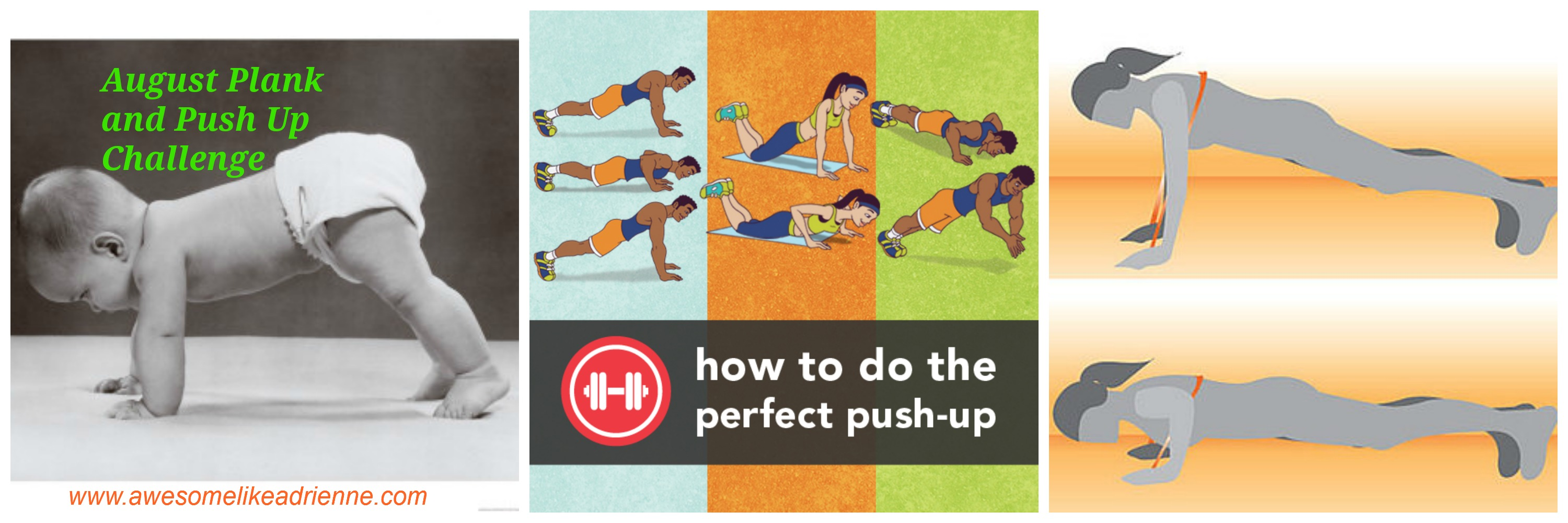 August Plank & Push up Challenge – AWESOME LIKE ADRIENNE