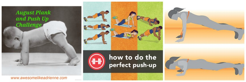Aug Plank and Push up challenge