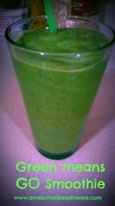 green means GO SMOOTHIE