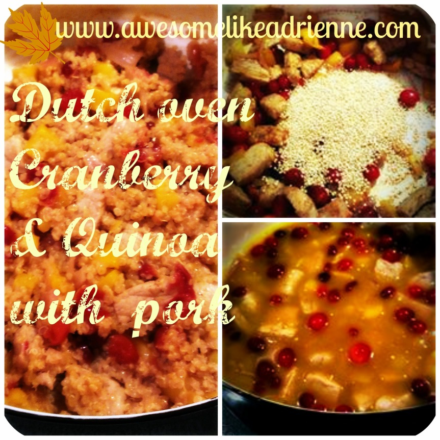cranberry and quinoa collage