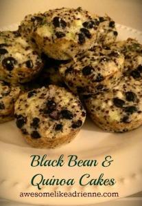 blk bean quinoa cakes