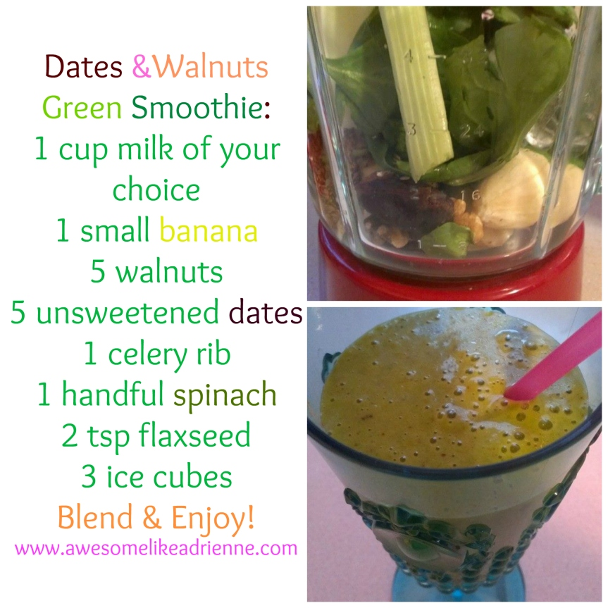 dates and nuts smoothie 2