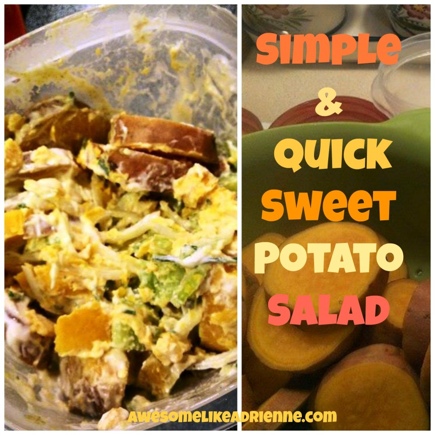 simple and quick sweet potato salad