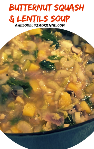 butternut squash and lentils soup