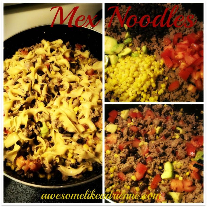 mex noodles collage