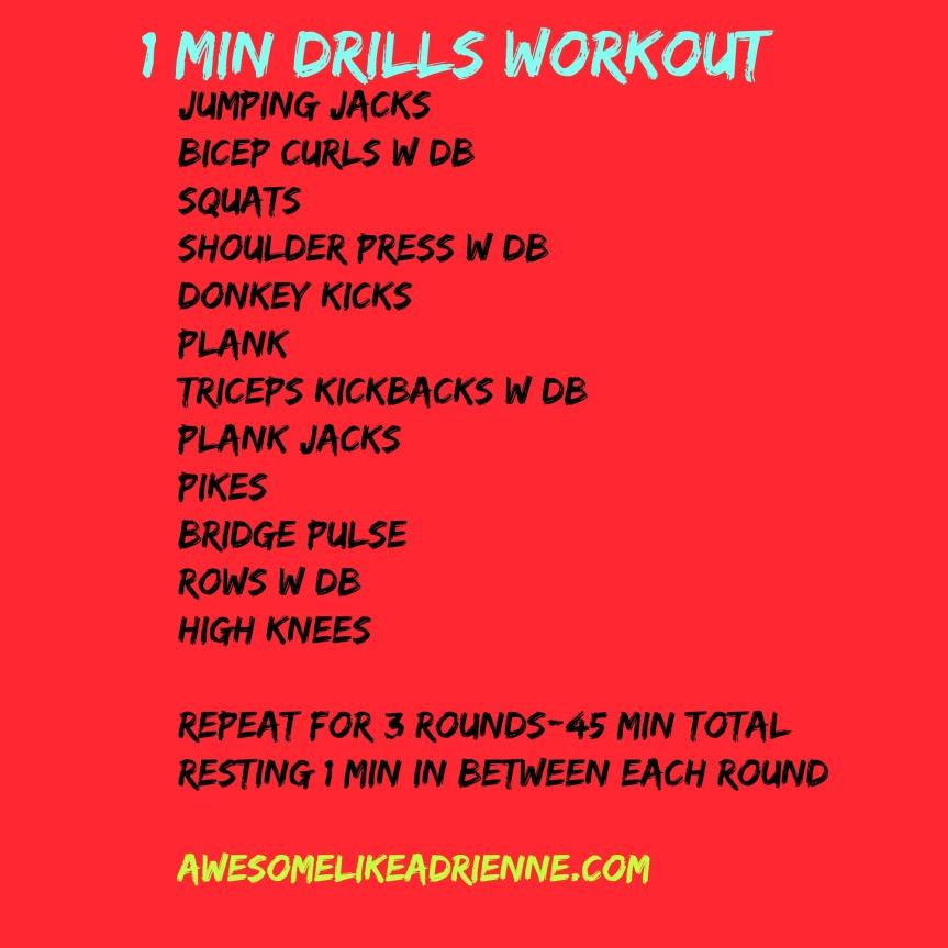 1 min drills