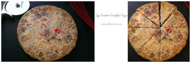 egg omelette breakfast pizza