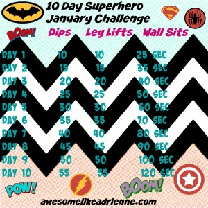 jan 2015 superhero challenge