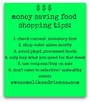 money saving shopping tips