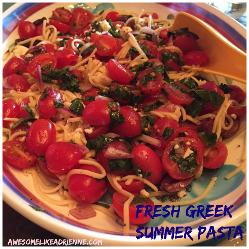 fresh greek summer pasta