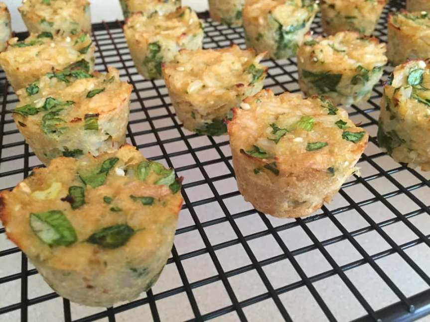 Toddler-friendly Tuna & Rice muffins
